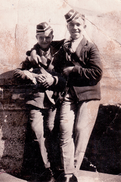 Two members of the WGC Boys Brigade in uniform