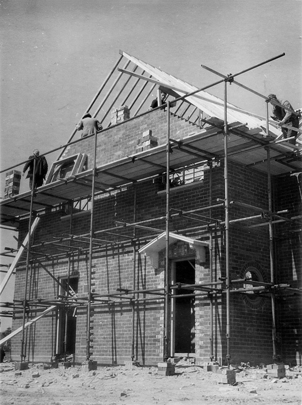 A WGC house under construction