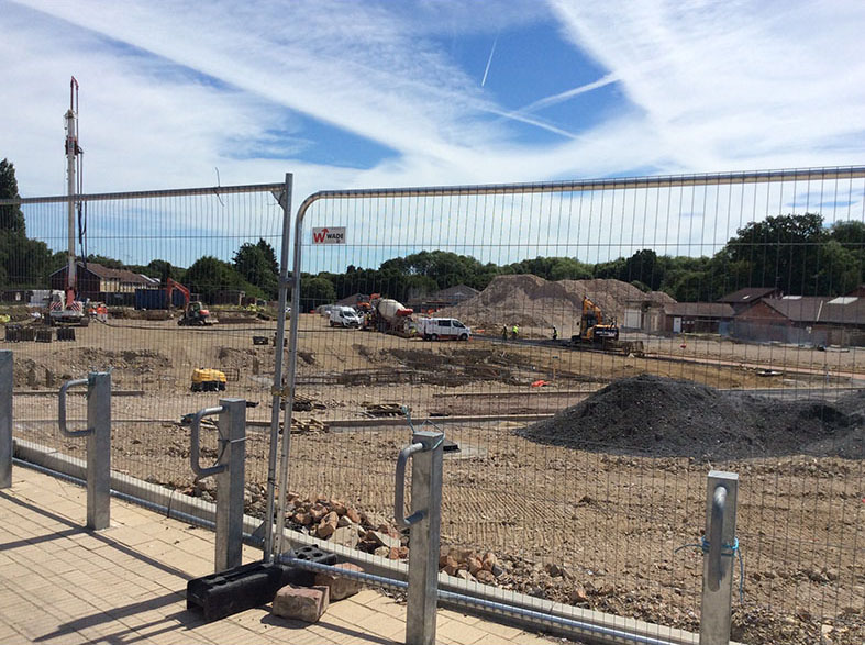 The QEII hospital site - being prepared for housing in June 2017