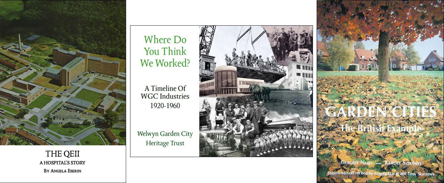 The QEII, Industrial Timeline & Garden Cities books