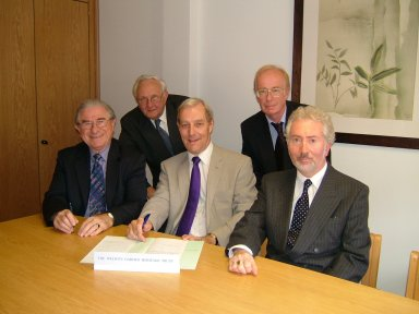 Trustees: Cllr Chris Cory, Anthony Fisher, Cllr Dr Dennis Lewis, Jim Morgan, and Cllr Tony Skottowe - photo by Ken Wright
