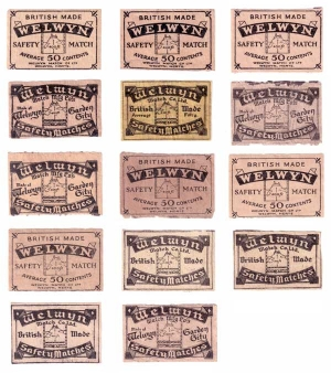 Welwyn Match Co Ltd labels
